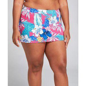 Lane Bryant Slitted Swim Skirt 22